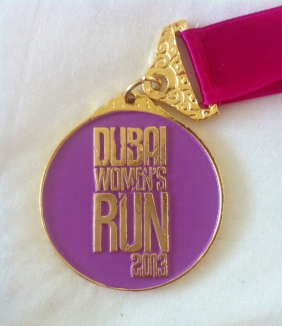 dubai womens run medal